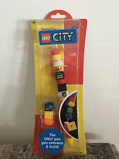 New Lego City Connect and Build Rescue Fireman Firefighter Pen Change Beads