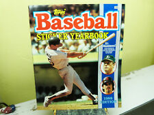 TOPPS BASEBALL STICKER YEARBOOK 1988 EDITION, UNUSED, EXC CONDITION