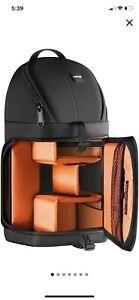 Neewer Pro Camera Case Sling Backpack Bag for Nikon Canon Sony Orange Interior