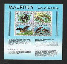 Mauritius 1978 Endangered Species Miniature Sheet Ms 561