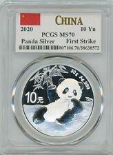 2020 Panda Silver 10 Yn, MS 70 First Strike China - PCGS
