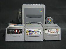 Nintendo Super Famicom Console 15 game softs (Japanese RPG, Animation games) set
