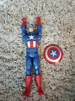 "Marvel Captain America 12"" Poseable Action Figure HASBRO 2013 with Shield"