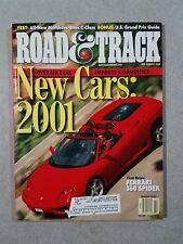 Road & Track Magazine October 2000 Mercedes-Benz C320 Ferrari 360 Spider Audi A2