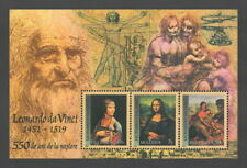 Moldova 2002 Art Mona Lisa / 550th Anniversary of Leonardo da Vinci MNH block