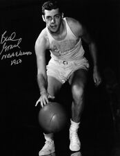 BUD GRANT SIGNED MINNEAPOLIS LAKERS NBA 1950 CHAMPS 8X10 B/W PHOTO (RARE) W/COA