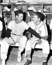 """Ted Williams & Stan Musial - 8"""" x 10"""" Photo - 1946 Cardinals & Red Sox Baseball"""