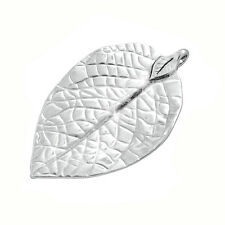 Large Antique Silver Plated Leaf Pendant Charm 77mm Pack of 1 (D104/4)