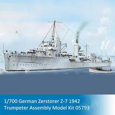 Trumpeter 05793 1/700 German Zerstorer Z-7 1942 Battleship Assembly Model Kits