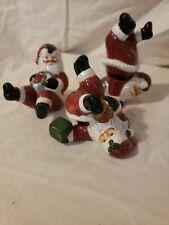 Fitz And Floyd Hand Crafted China Tumbling Santas