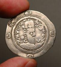 H12-16 Western Turk Rulers of Balkh, AR Drachm imitating Sasanian Hormizd IV