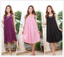 Meryl Large Pure Color Night-dresses Women's Nightwear Nightshirt Sleepwear