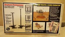 Sanus Systems Accurate Foundations Home Theater Speaker Stands (4) / Black - NOS