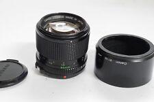 Canon 85mm f1.8 manual focus FD mount lens + BT-52 bayonet lens hood & front cap