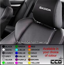 SKODA Car Seat / Headrest Decals Badge Logo Vinyl Stickers -graphics X5