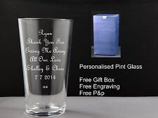 Pint Glass, Thank You For Giving Me Away Wedding Gift, Wedding Favour,