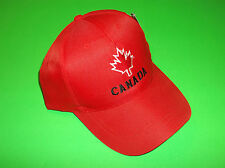 CANADA FLAG RED SUPPORT YOUR OLYMPIC WORLD JUNIORS HOCKEY TEAM HAT BALL CAP