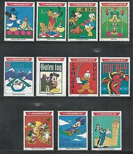MALDIVES # 1643-1653, MNH DISNEY Mickey and Friends World Tour