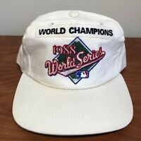 World Series Champions Hat Snapback Cap White Blank Vintage 80s '88 MLB Baseball