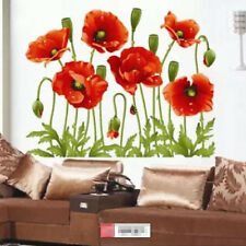 Home Decor Red Flower Wall Decal Mural Removable Flowers Wall Stickers Vinyl Art
