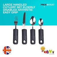 Large Handled Cutlery Set Elderly Disabled Arthritis Easy Grip Eating Aids UK