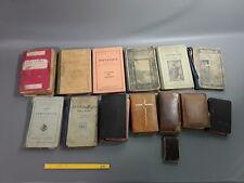 """8 anciens livres d'instructions scolaires 6 livres religieux""""Missel"""""""