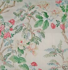 LEE JOFA KRAVET CHINOISERIE PEONY TREE FABRIC 10 YARDS SHABBY ROSE PINK GREEN