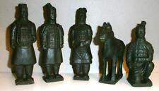 Terrakotta Armee 5 Figuren Krieger Pferd China 15 cm Deko Soldat General