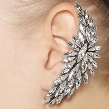 Silver Crystal Big Statement Cuff Stud Punk Earring For Left Pierced Ear UK Shop