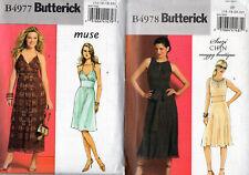 """4977 & 4978 UNCUT DRESS Patterns Sz 14-22 """"MUSE"""" & """"SUZI CHINE"""""""