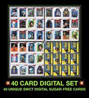 Topps STAR WARS CARD TRADER Digital Sugar-Free Insert 40 SugarFree Set Lot SWCT