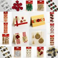 Christmas embellishments - card making crafts handcrafted
