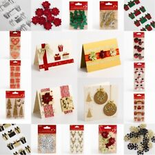 Christmas Card Making Handcrafted Embellishment Crafts -  Handmade Decorations