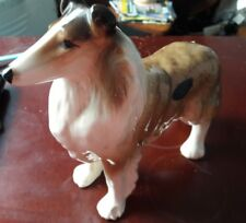 Vintage dog ornament long haired collie Coopercraft
