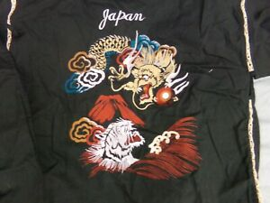 Embroidered Dragon & Tiger Japanese Women's Size Large 2 Piece Set NWT