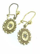 Vittoriano Oro Diamante Orecchini Goccia 375 9CT Stella di Destiny Elegante