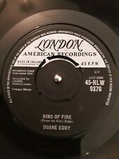"Duane Eddy ‎– Ring Of Fire Vinyl 7"" Single London HLW 9370 1961"