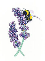 Heritage Crafts Peter Underhill Cross Stitch Kit - Lavender Bee