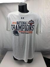 Auburn Tigers Football 2010 National Champions T Shirt Adult M Under Armour