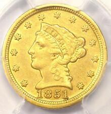 1851-D Liberty Gold Quarter Eagle $2.50 - PCGS AU Details - Rare Dahlonega Coin!