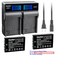 Kastar Battery LCD Rapid Charger for Kodak KLIC-5001 Kodak EasyShare P712 Camera