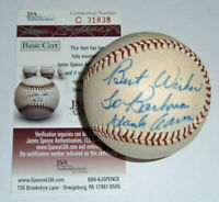 BRAVES Hank Aaron signed NL Feeney baseball JSA COA AUTO Autographed Milwaukee
