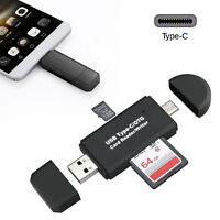 USB C 3.0 Type C to USB3.0 OTG HUB Adapter USB/TF/SD Micro SD Memory Card Reader