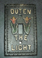 Vintage Cast  Switch plate Outen The Light