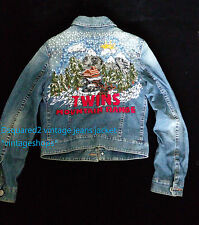 DSQUARED runway vintage jeans jacket embroidery authentic item EU50