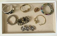 Pretty Floral Jewelled Bracelet & Ring Bundle Accessorize; Vintage Boho Style