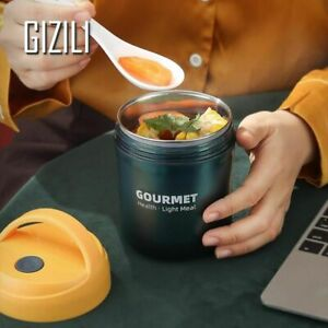 Thermos Thermal Insulated Lunch Box Bottle Food Soup Container Stainless Steel