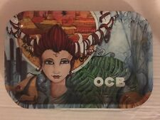 """OCB Tray Rolling Papers Brand Vintage METAL/Cigarette  7""""X11"""" Tray BRAND NEW"""