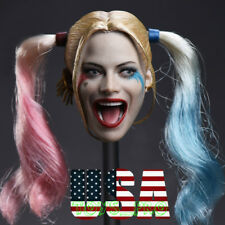 CUSTOM 1/6 Harley Quinn Head Sculpt Suicide Squad For Hot Toys Figure ❶IN STOCK❶