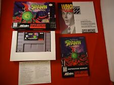 Todd McFarlane's Spawn: The Video Game (Super Nintendo SNES) COMPLETE w/ Box